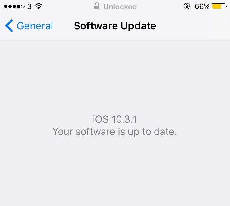 iPhone iOS 10 update